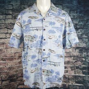 Kalaheo Shirts - Kalaheo RJC Hawaiian Planes Shirt XL